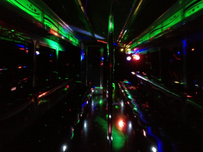 Party Bus Light Show in NYC